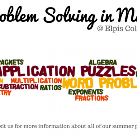 Summer 2018 – Problem Solving in Math