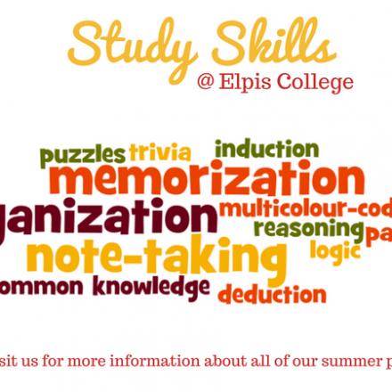 Summer 2018 – Study Skills